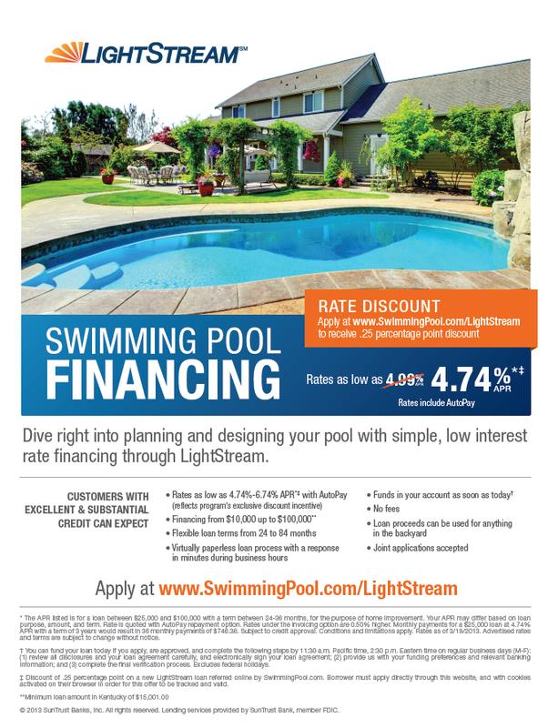 Financing desert soul landesign pools landscape for Pool financing
