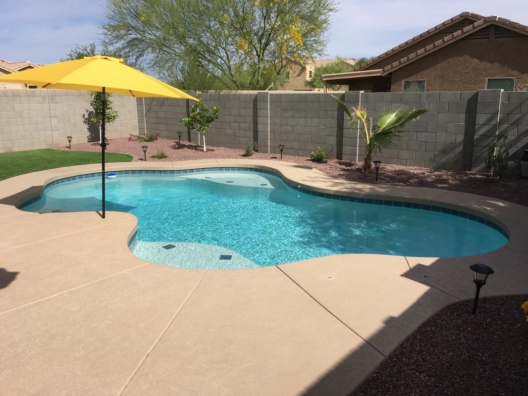 Swimming Pool Builder Contract Form : Free form desert soul landesign pools landscape