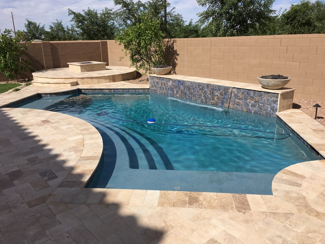 Pool shapes desert soul landesign pools landscape for Pool design az
