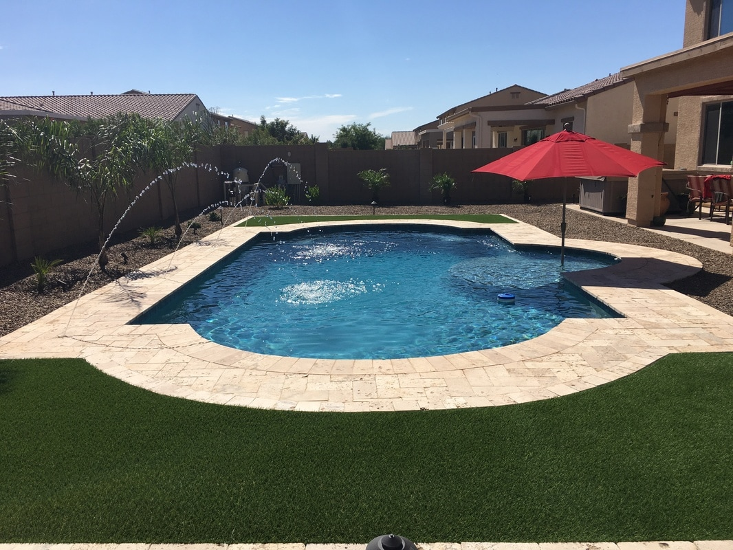 Phoenix landscaping design pool builders pool remodeling for Pool builders