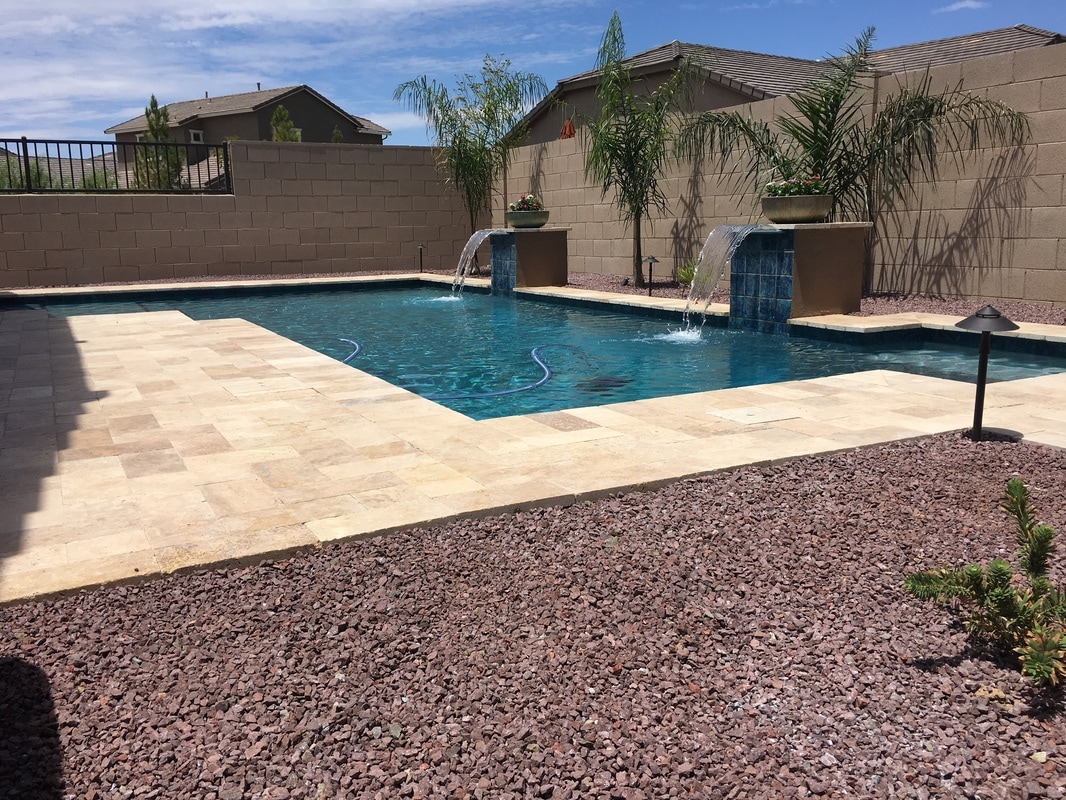 Straight edge desert soul landesign pools landscape for Pool vendors