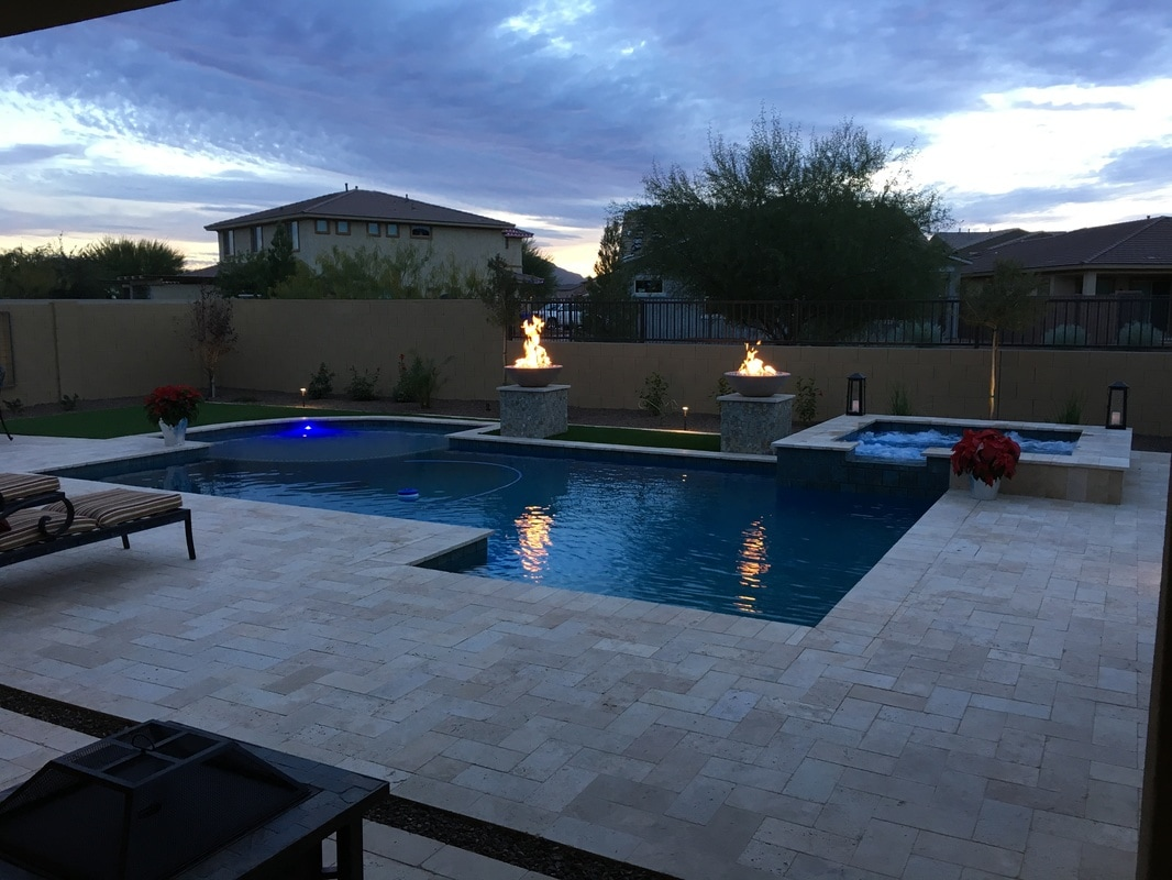 Fire bowls desert soul landesign pools landscape for Pool design az