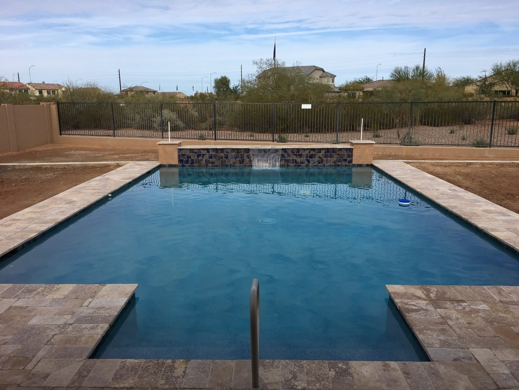 Swimming Pool Builder Contract Form : Travertine desert soul landesign pools landscape