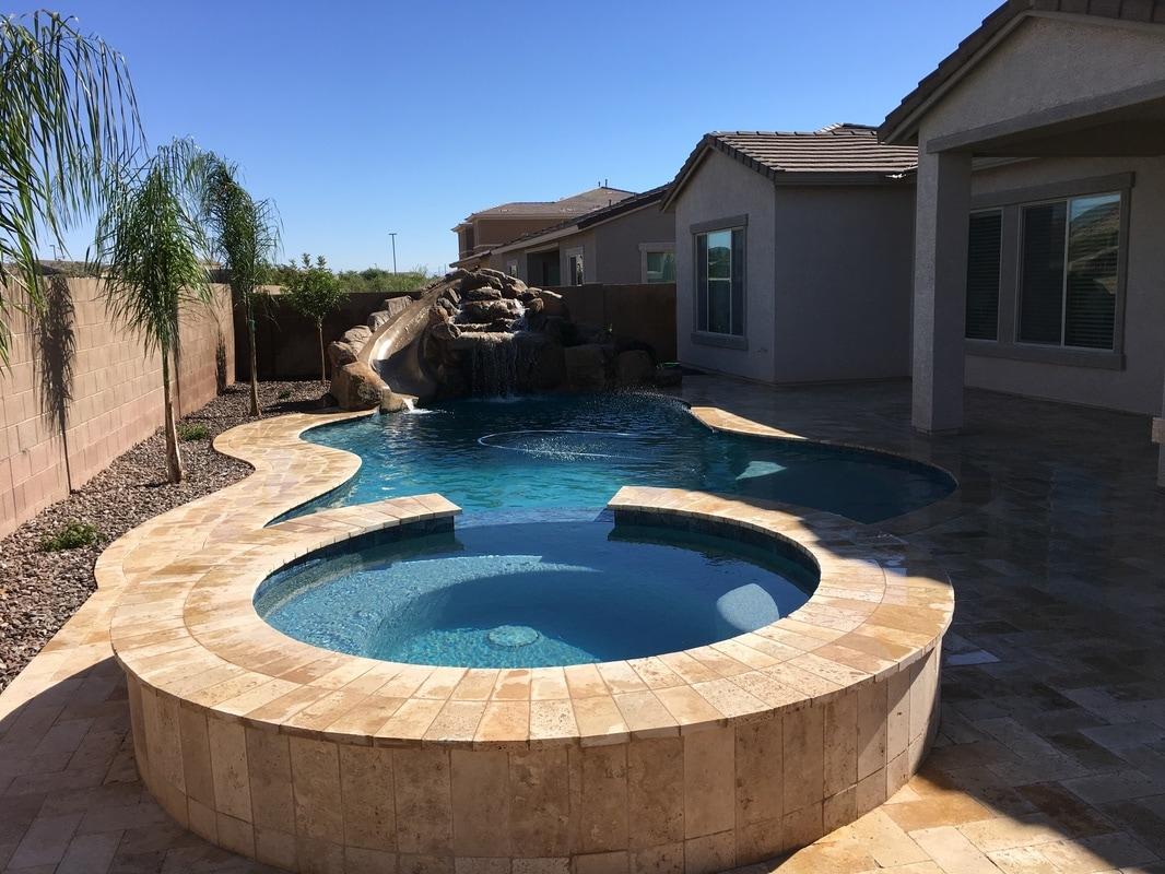 Swimming Pool Plastering Contractors : Super sheen plaster desert soul landesign pools landscape