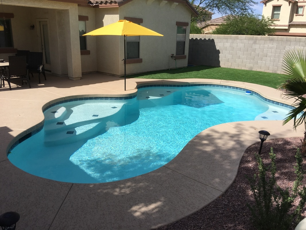 Plaster desert soul landesign pools landscape for Custom pool builder