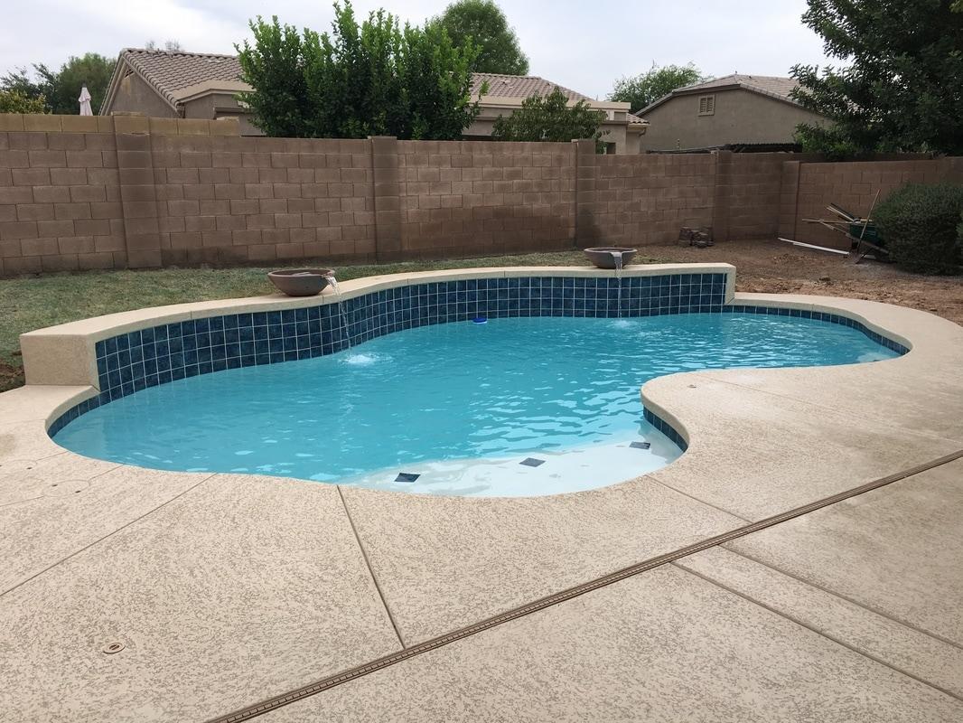 Swimming Pool Plastering Contractors : White plaster desert soul landesign pools landscape