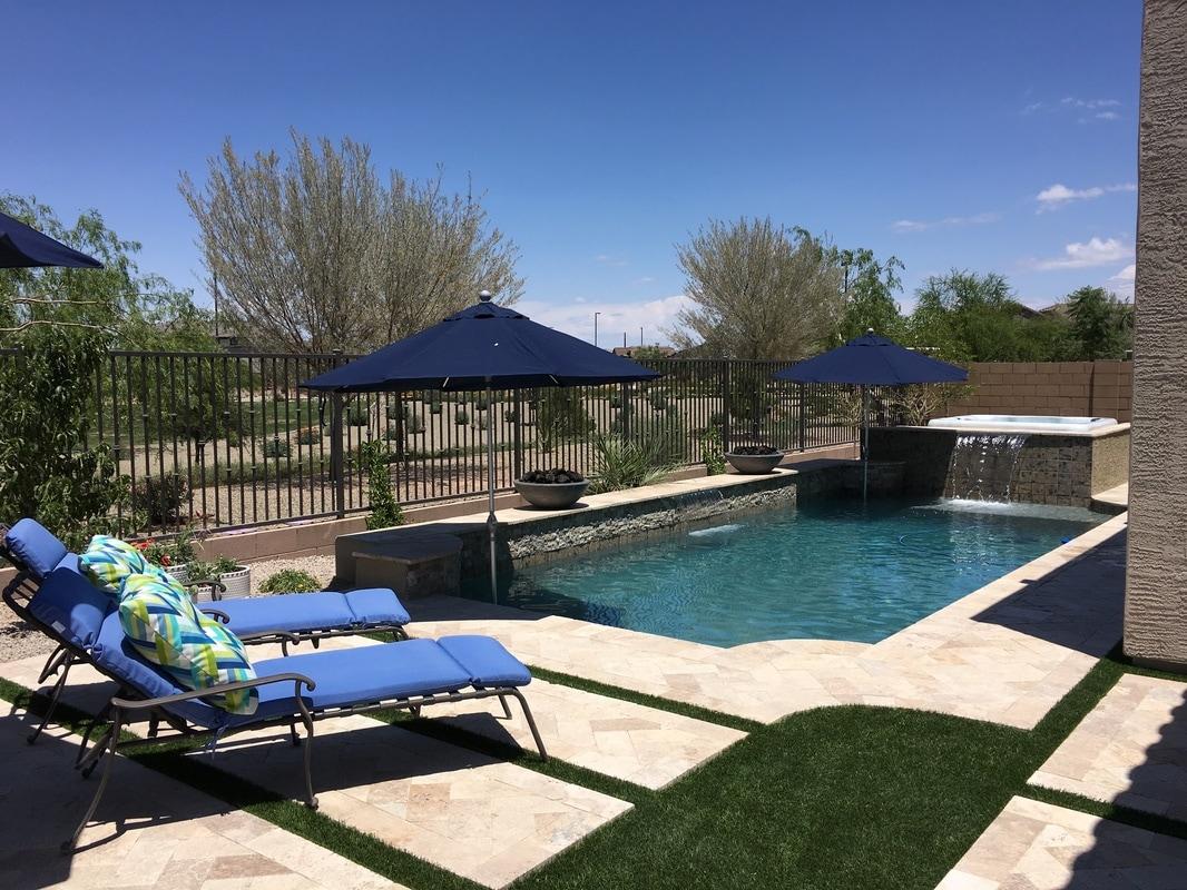 Plaster desert soul landesign pools landscape for Swimming pool design photo gallery