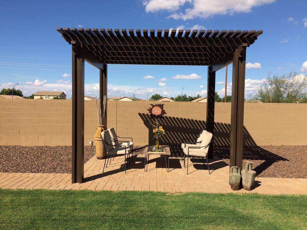 pergola ramada desert soul landesign pools landscape. Black Bedroom Furniture Sets. Home Design Ideas