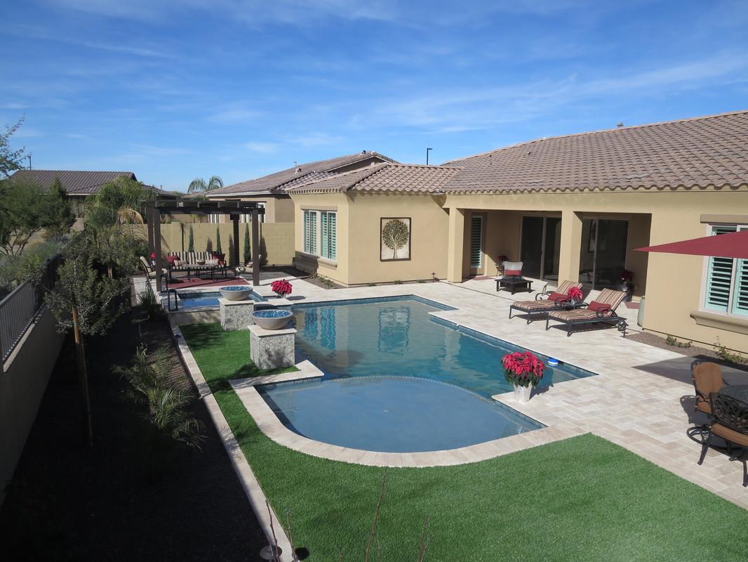 Building Custom Geometric Swimming Pools All Over Gilbert Arizona Queen Creek Chandler San Tan Valley