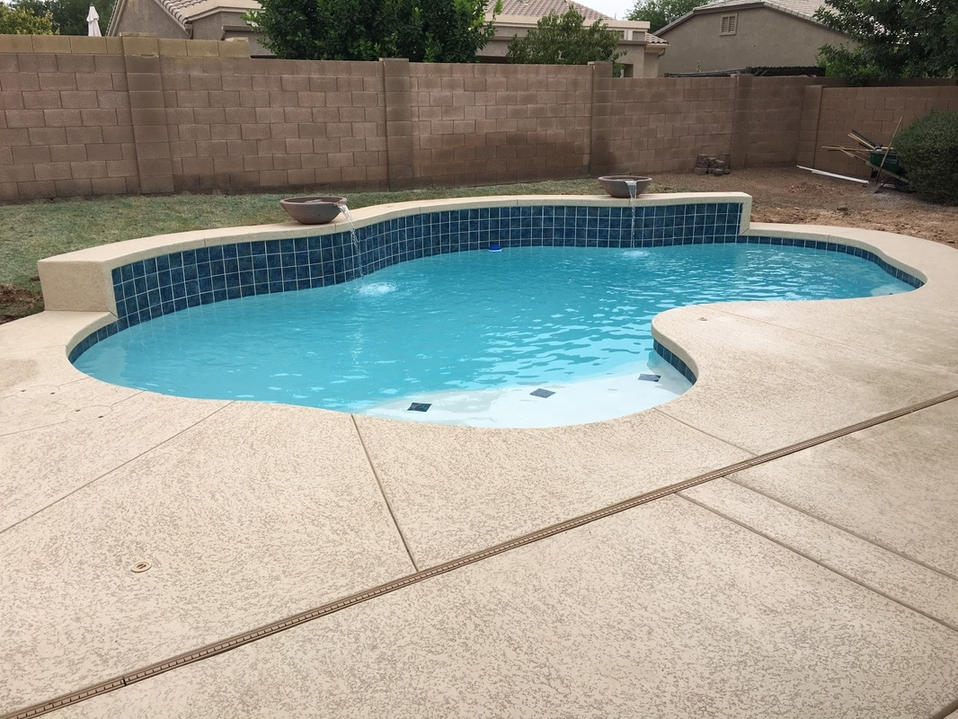 Water Bowl Offering Awesome Features Waterfalls Sheer Descents Grottos Slides Deck Jets Bubblers Bowls Building Pools All Over Gilbert