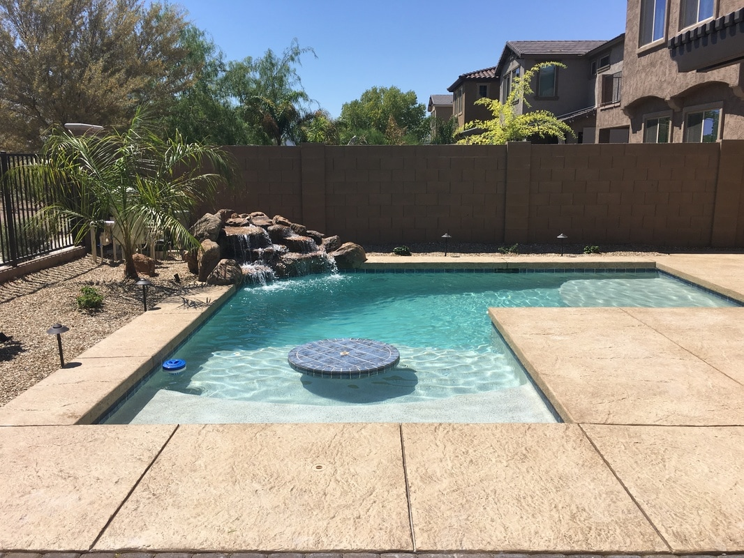 Swimming Pool Table Building Pools All Over Gilbert Arizona Queen Creek Chandler San Tan Valley Contractor